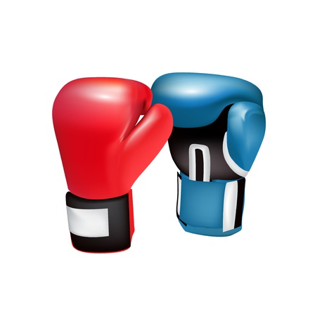leather gloves: boxing gloves isolated on white background
