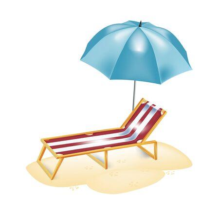 sunbathing: umrella and chair for sunbathing isolated