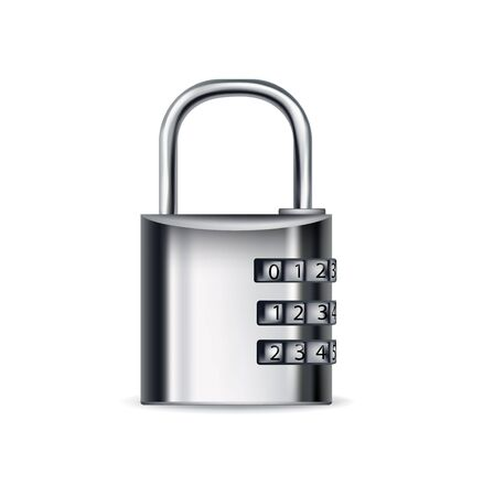 cipher: lock icon with cipher isolated on white