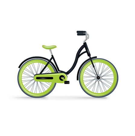 single bycicle isolated on white background