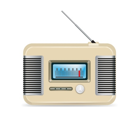 retro radio isolated on white background Vector