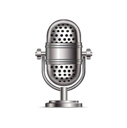 retro microphone isolated on white background Stock Vector - 20464106