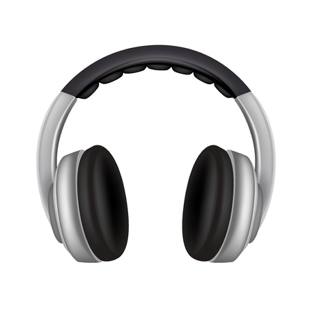 headphones isolated on white background Stock Vector - 20464167