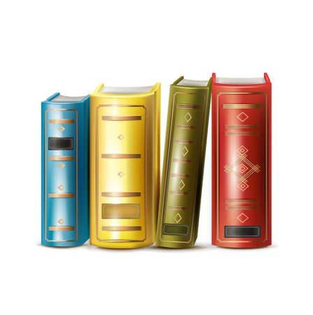 four books isolated on white background Stock Vector - 21684228