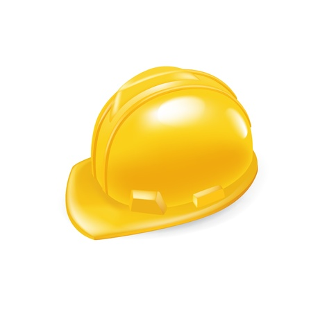 worker hard hat isolated on white Stock Vector - 21684414