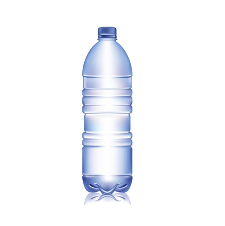 bottle of water isolated on white background Иллюстрация