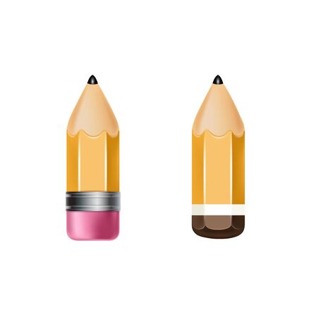 two pencils icon isolated on white Stock Vector - 20477181