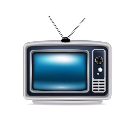 retro television isolated on white background Stock Vector - 20477672