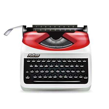 retro typewriter isolated on white camera Stock Vector - 20479583