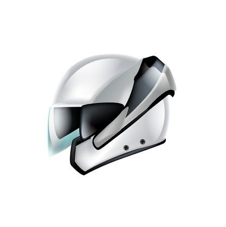 motorradhelm: Motorrad-Helm isoliert auf wei�em Hintergrund