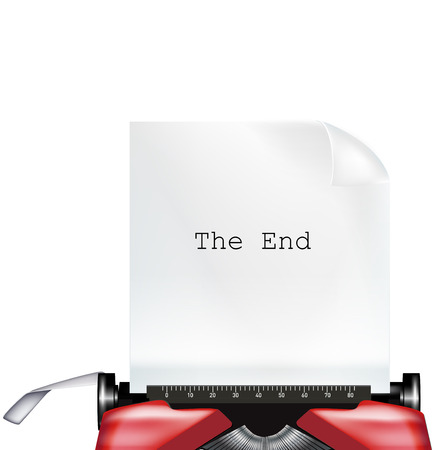 typewriter with paper and
