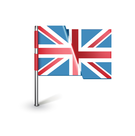 united kingdom flag isolated on white background Vector