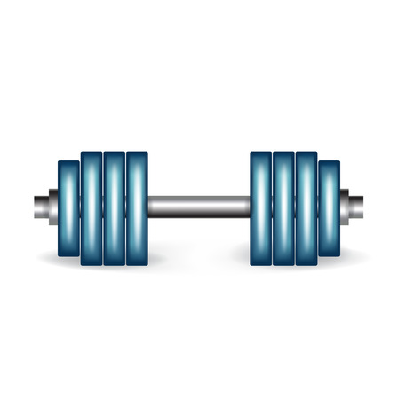 exercising weights isolated on white background Stock Vector - 22590499