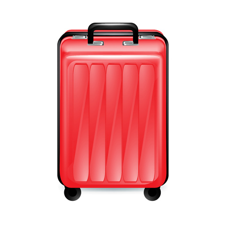 trolley case: trolley case isolated on white background