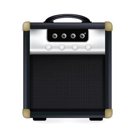 guitar amplifier isolated on white background Vector