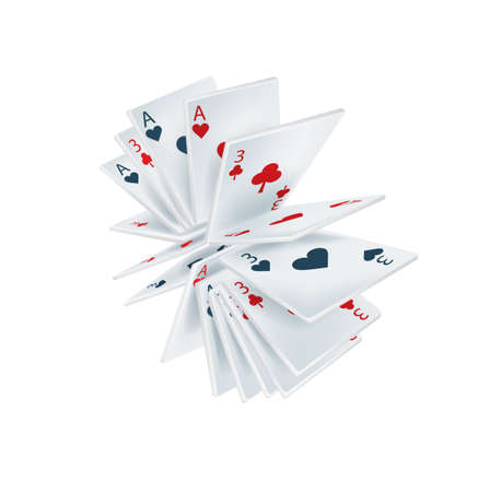 playing cards isolated on white background Stock Vector - 22750905