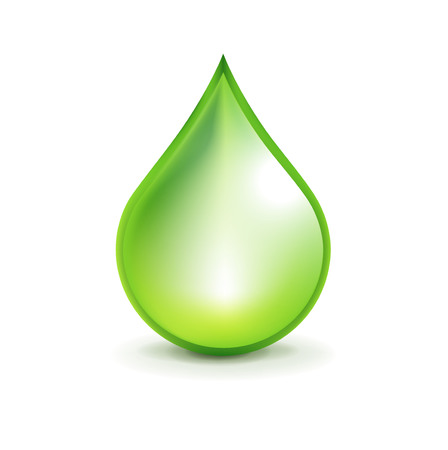 green droplet isolated on white background Stock Vector - 22751006