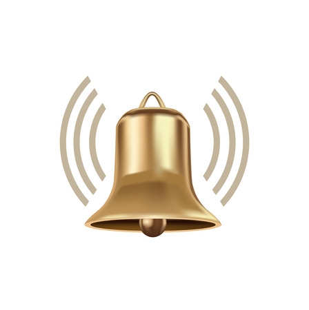 bell with volume sign isolated on white background