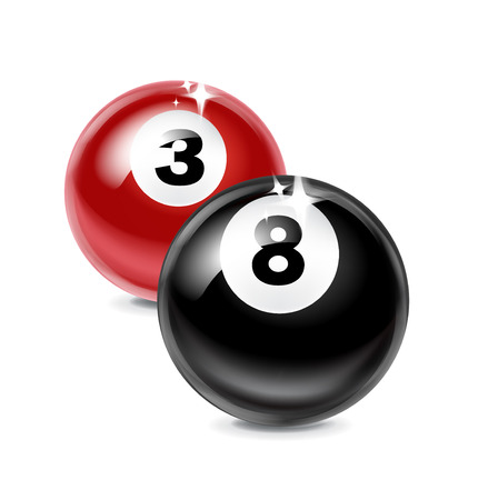 eight and three billiard balls isolated on white background Stock Vector - 24510745