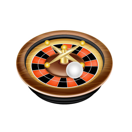 single casino roulette isolated on white background  Vector