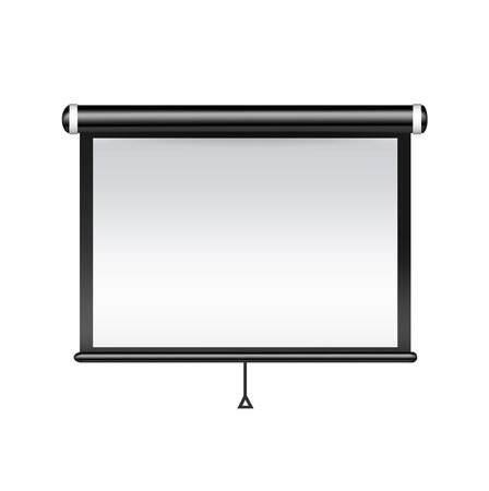 enkele projector geïsoleerd op wit Stock Illustratie