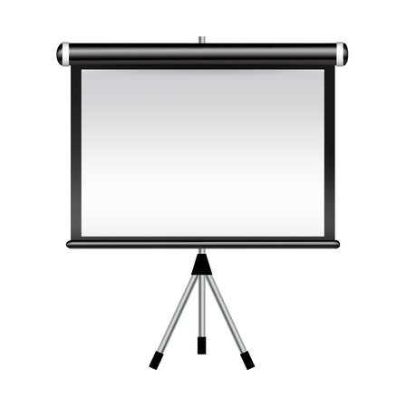 projector screen isolated on white background Illustration