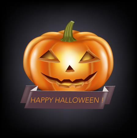 halloween pumpkin isolated on white background Illustration