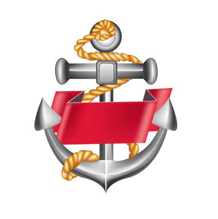 anchor emblem isolated on white background
