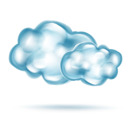 clouds isolated on white background Illustration