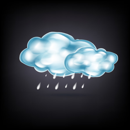 gush: clouds with rain on dark background Illustration