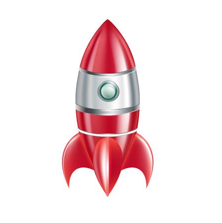 booster: fus�e isol� sur fond blanc