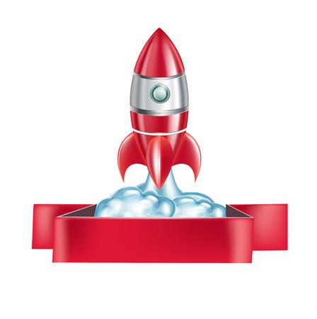 rocket emblem isolated on white background