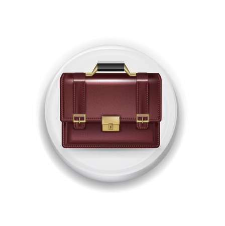 application button: business briefcase illustration on white application button isolated on white background