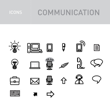 spech bubble: communications icons set isolated on white background