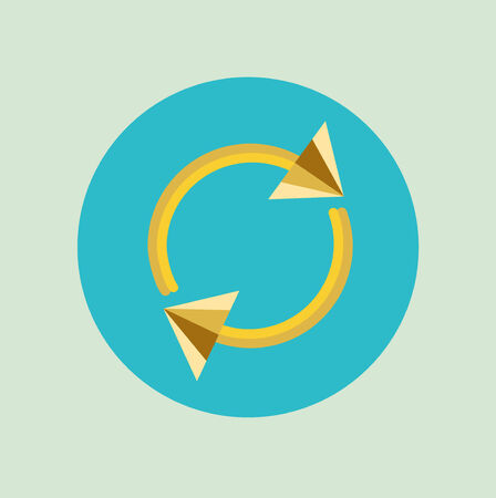 application recycle: recycling arrows flat design icon vector