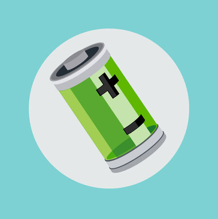 single battery flat icon design vector 向量圖像