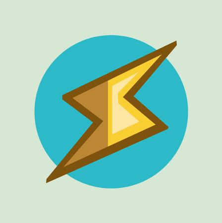 thunder and lightning: thunder lightning symbol flat icon design