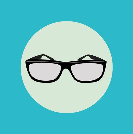 polarized: pair of glasses flat icon design vector Illustration