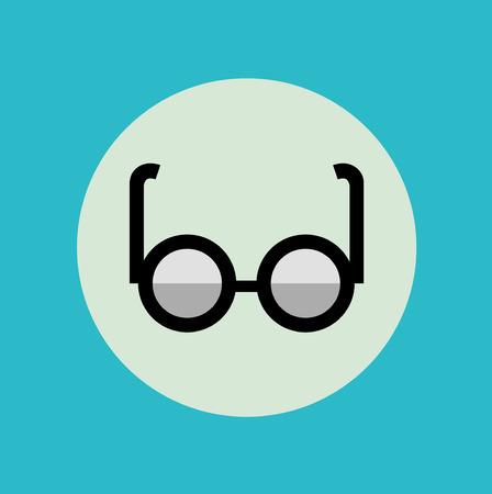 polarized: glasses icon flat icon design vector Illustration