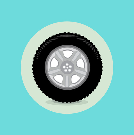 car tire flat icon design vector  Vector