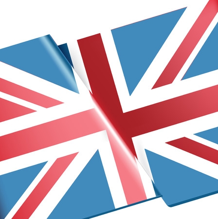 single uk flag closeup vector illustration  Vector