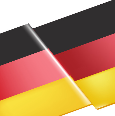 single germany flag closeup vector illustration   Vector