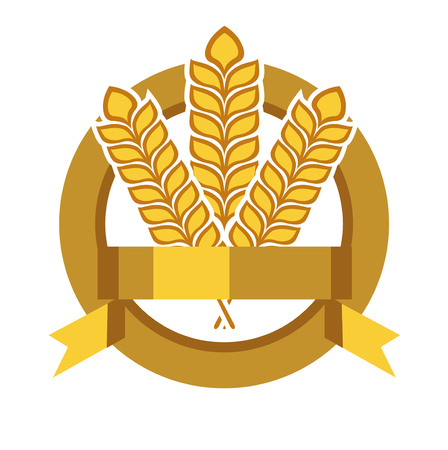grains in badge vector flat design icon