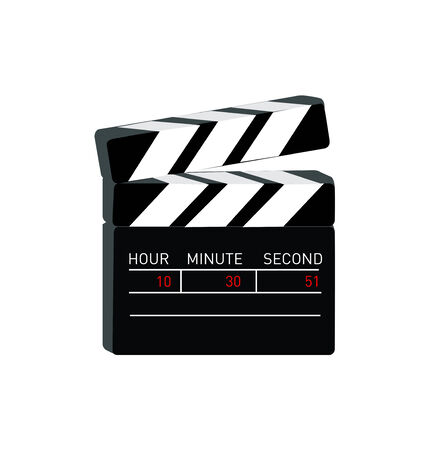 movie clapper flat design vector icon isolated on white