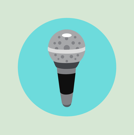microphone icon vector flat design icon