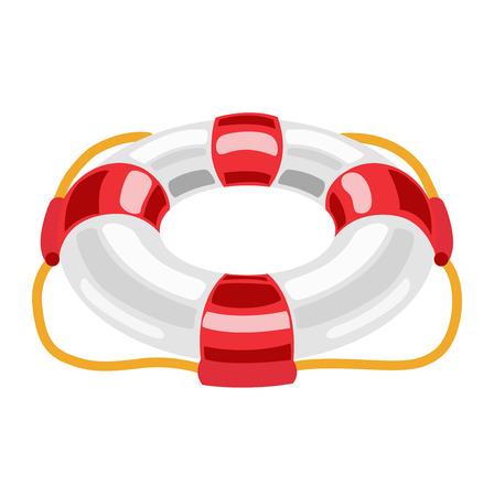 lifebuoy flat design vector on white background Vector