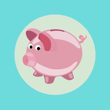 piggy bank icon vector flat design icon Иллюстрация