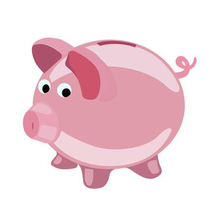 piggy bank vector flat design vector icon Иллюстрация