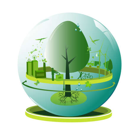 global ecology concept Stock Vector - 4005719