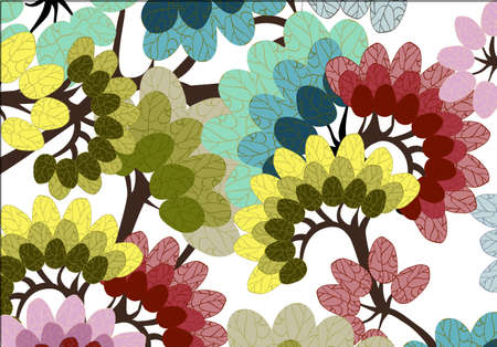 big colorful leave wallpaper Illustration